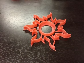 Disney's tangled sun cookie cutter