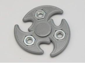 Tri Shuriken Spinner with M10 Hex Nuts