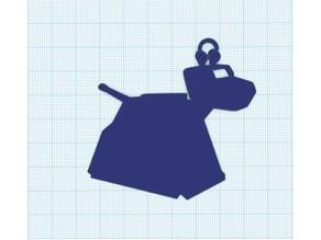 k9 silhouette keychain