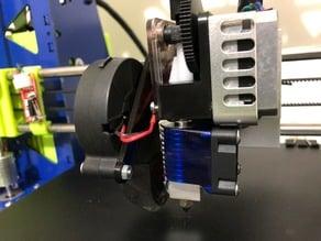 Titan nozzle fan holder for aluminium metal x carriage