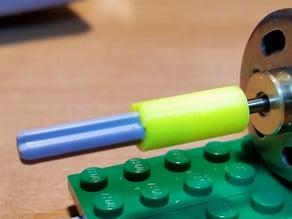 Parametric motor shaft to lego coupler
