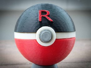 Team Rocket Rocketball Pokeball, with magnetic clasp