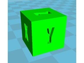 Cube 15mm X,Y,Z calibrage