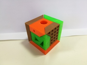 3 parts puzzle box