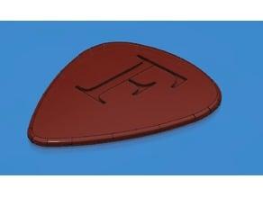 """Guitar Pick """"F"""" Engraving"""