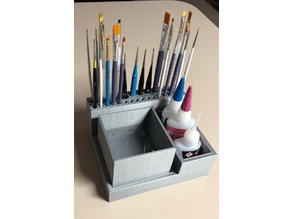 Paint Brush Caddy W/ Removable Wash Station