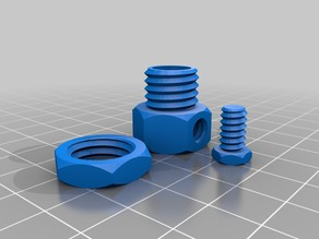 Customizable cable gland with bolts and nuts