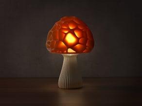 Voronoi mushroom lamp 2