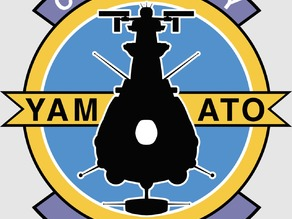 BBY-01 YAMATO badge 10cm x 10cm (for lasercut)