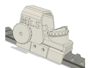 "NERF Mk S Adjustable Sight - ""Meaker Peaker"""