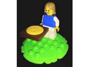 Pizza slide for Lego minifig