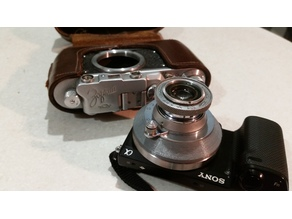 Industar-22 M39 Lens to Sony e-mount adapter