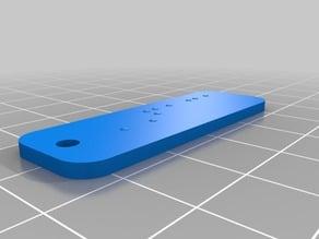 My Customized Braille Alphabet (software translator)