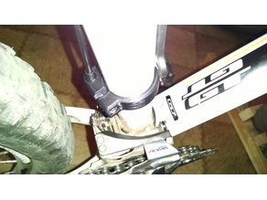 Bicycle front derailleur cable support/ending