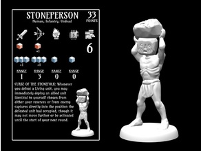 Stoneperson (18mm scale)