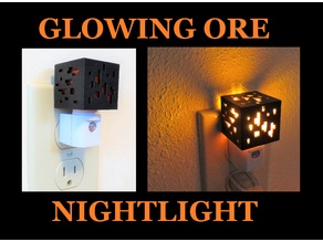 Mini Minecraft Ore Cube Nightlight Redstone