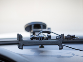 Nexus 5 car cradle with GoPro mount