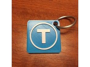Thingiverse Logo Keychain (2colors)
