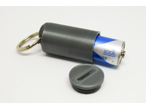Keychain battery container for Dana R/RS batteries