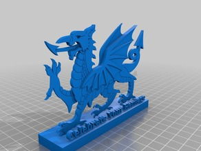 Welsh Dragon w/stand and Celebrate Your Heritage