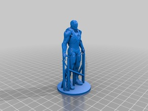 """Iron Man Statue (With """"Easy-to-remove"""" Support) (Remix)"""