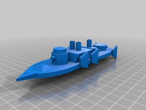1:1200 aeronef battleship