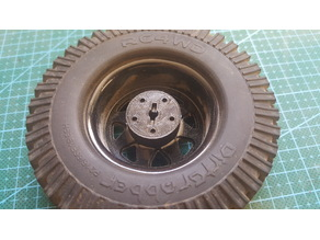 Customisable 5 lug RC wheel hub