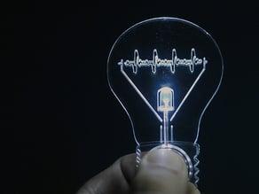 Pulse-lamp flashlight