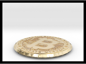 Bitcoin Coin & Coaster ( double sided )