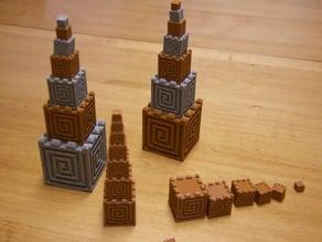 Aztec Cube Tower Blocks