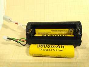 Battery holder for 3x 18650