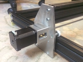 Laser engraver motor mount for Nema 17,23 using series 10, 80/20 extrusion