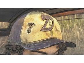 The Walking Dead Clementine hat logo stencil
