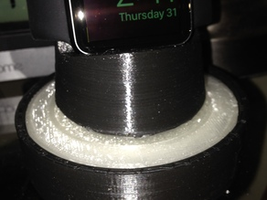 """Apple Watch Charging Stand with """"Hockey Puck"""" Base/Chord Storage"""