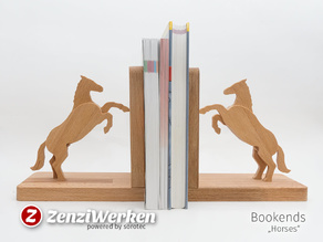 Bookends Horses (cnc)