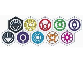 DC's Lantern Corps Keychains