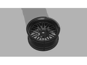 1/10 scale rim with deep offset
