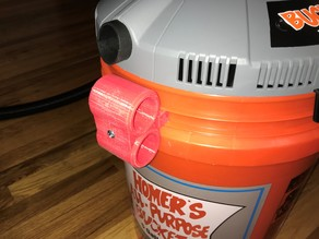 Home Depot Bucket Head Vac Cord and Hose Holders