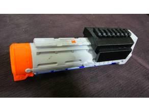 Nerf Tri-Strike Pump with Picatiny Rail