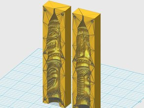 tiki candle mould