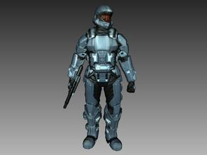 Halo 3 ODST Soldier 3D Scan