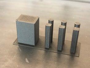 Pillar test for 3D printer calibration