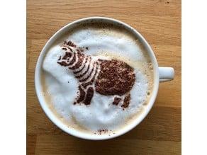 Hippo Cappuccino Stencil