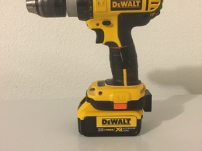 Dewalt 18 volt to Dewalt Lithium Ion 20 Volt Adapter - With Battery Monitor