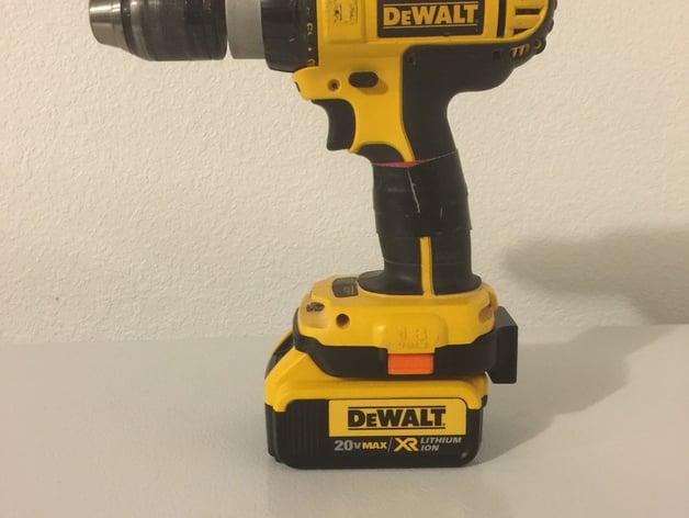 dewalt 18 volt to dewalt lithium ion 20 volt adapter with battery rh thingiverse com de walt hand tools kit de walt power tool wiring diagrams #31
