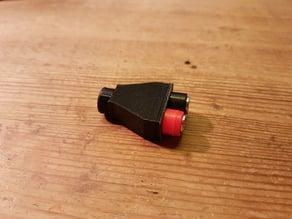 XT60 / 4mm banana plug extension housing (quickly printable) // XT60/4mm Bananenstecker Verlängerung Gehäuse (schnell druckbar)