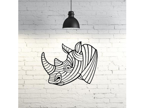 Rhino II wall sculpture 2D