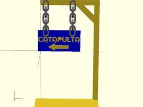 Sign for pointing a catapult