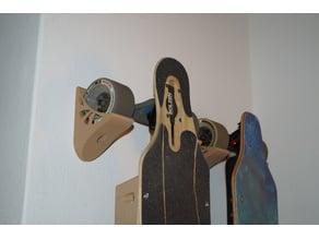 Electric longboard wallmount for 96mm wheels