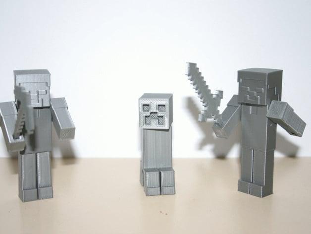 Minecraft Steve By Fantom Thingiverse